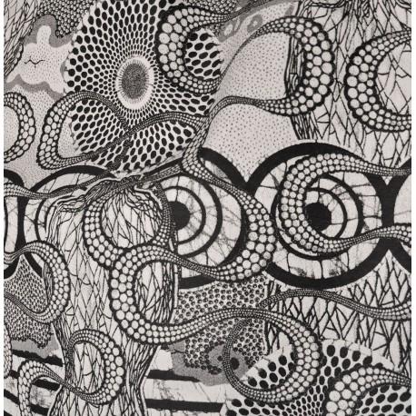 Tissu Metisse graphite Jean Paul Gaultier