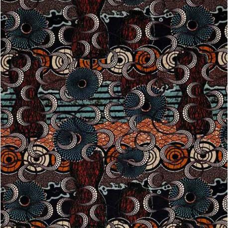 Tissu Meltingpot terre Jean Paul Gaultier