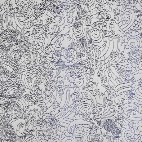 Tissu Skin encre Jean Paul Gaultier