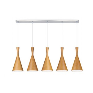 Suspension Clessidra Wood foncé large, Linea Verdace
