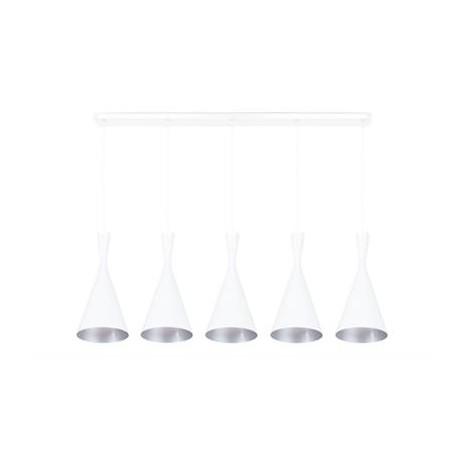 Suspension Clessidra Blanc/Argent large, Linea Verdace