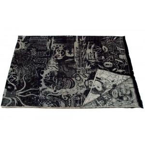Plaid Expression noir/écru Jean Paul Gaultier