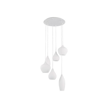 Suspension Soft blanche ronde, Ideal Lux