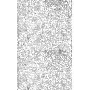 Papier peint Horimono Argent, Jean Paul Gaultier