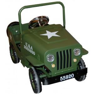 Voiture à pédales métal Jeep US kaki, Protocol
