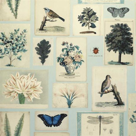 Papier peint Flora And Fauna Cloud Blue, John Dorian