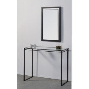 Console Graphic anthracite/verre, Un Autre Regard
