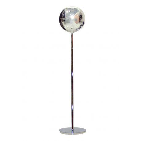 Lampadaire design Glo chromé et abat-jour en verre borosilicate, Penta Light