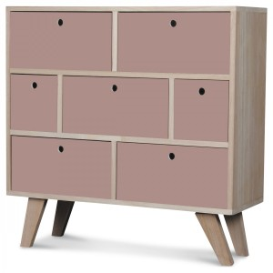 Commode Vik scandinave 6 COLORIS