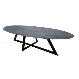 Table salle à manger Céramique Carat ovale 8 FINITIONS