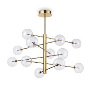 Suspension Equinoxe doré, Ideal Lux