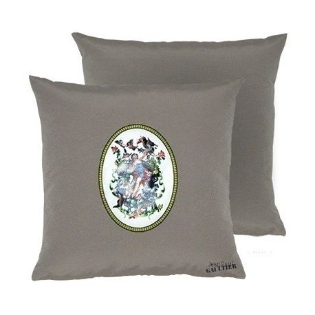 Coussin Amour taupe Jean Paul Gaultier
