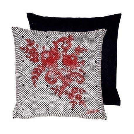 Coussin Discret grès rouge Jean Paul Gaultier
