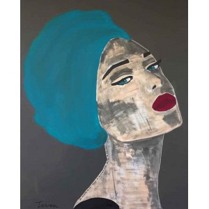 Tiven - Impression du tableau Annely sur Plexiglas