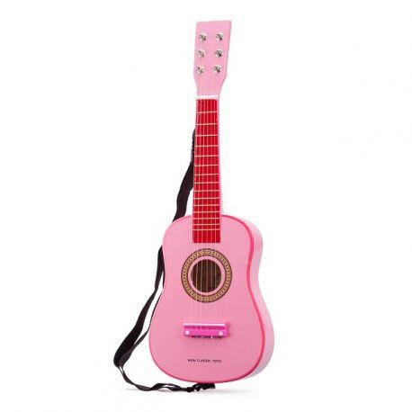 Guitare classique rose pour enfant Protocol en bois laqué 60 cm