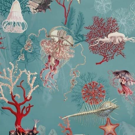 Papier peint vinyle Corail Océan, Jean Paul Gaultier