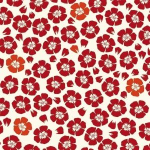 Papier peint vinyle Coquelicot Rouge, Jean Paul Gaultier