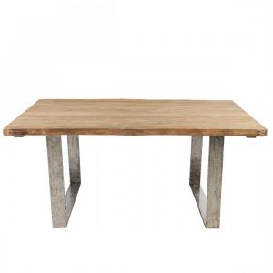 Table teck brossé Vague 170x100, Kok Maison