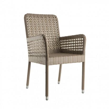 Chaise avec accoudoirs en résine Antibes, KOK Maison