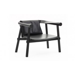 Fauteuil Altay cuir noir, Coédition