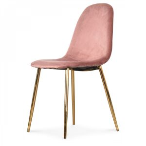 Chaise velours rose Greta