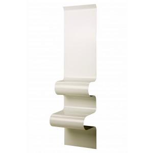 Chevet design ondulé blanc, Vidame