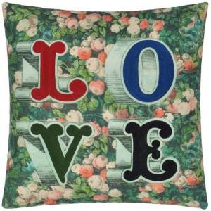 Coussin LOVE Forest, John Derian 50x50