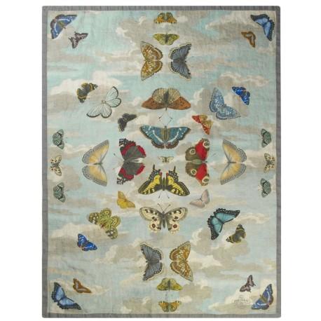Plaid Mirrored Butterflies Sky John Derian 130 x 180 cm
