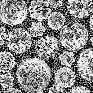 Papier peint Punto Madama Noir, Jean Paul Gaultier