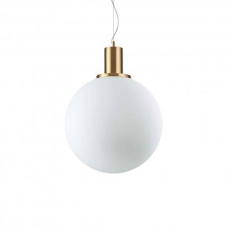Suspension ronde Loko Ø40 Ideal Lux composée d'un globe blanc