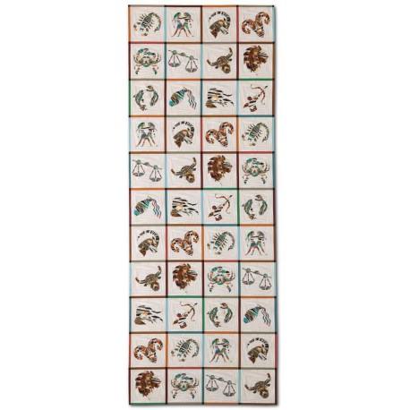 Chemin de table coton Constellation aux motifs du Zodiaque Missoni Home