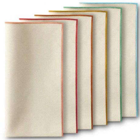 Lot de 6 serviettes de table dotées de bordures colorées Missoni Home