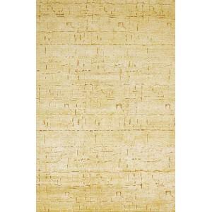Tapis Glyphe Or en soie aux motifs en creux Toulemonde Bochart