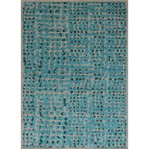 Tapis Gao Ocean bleu et gris aux motifs tendance Toulemonde Bochart