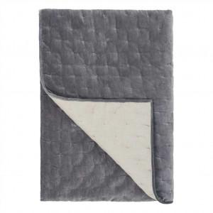 Courtepointe en velours matelassé gris Sevanti Graphite Designers Guild