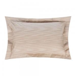 Taies d'oreiller Angie en percale de coton au motif beige Missoni Home