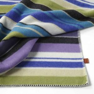 Couverture à rayures double face en laine Funny T70 Missoni Home