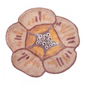 Tapis de bain Aretha orange épais rond fleur en coton Missoni Home
