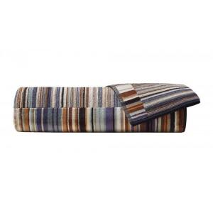 Drap de bain Jazz éponge coton à fines rayures multicolore Missoni Home