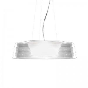 Suspension ronde design transparente C'HI en verre soufflé Penta Light