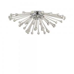 Plafonnier design en métal et verre chromé Pauline Ideal Lux