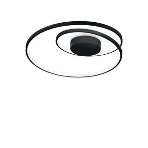 Plafonnier/Applique design rond noir led Oz Ideal Lux diamètre 60 cm