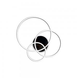 Plafonnier/Applique design rond noir led Fram Ideal Lux diamètre 61 cm