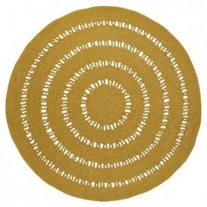 Tapis rond Bibek mangue en laine et coton et crocheté Nattiot