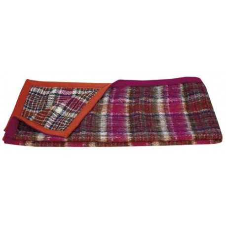 Plaid écossais à carreaux rose et orange Jack de la Maison Lelievre