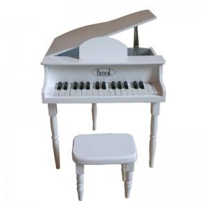 Petit piano et tabouret blanc, Protocol
