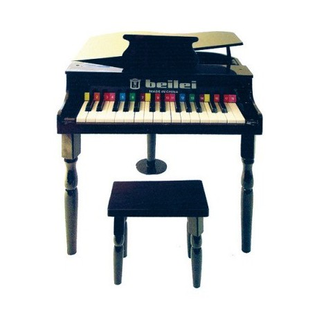 Petit piano et tabouret noir